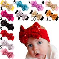 venda por atacado crianças mão luvas-Bandas Meninas Headbands Top cabelo do bebé Cabeça Baby Girl Kid Pérola Headband Rose Bow Flower Lace Elastic Hairband bonito