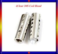 Cheap Iclear 30s atomizer dual coil head Innokin replaceable innokin iclear 30 s head coils for innokin itaste mechanical mod VS Occ coils