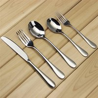 Wholesale Aoosy Set High grade Gloss Silver Flatware Dinnerware Set Stainless Steel Mirror Polishing Gold Cutlery For Western Restaurant