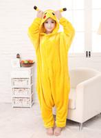 adult onesies - Cheap Adult Animal Pikachu Onesies Cosplay Anime costumes Onesies adult pajamas for adults