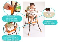 Wholesale A portable folding chair dining chair eat desk and chair Baby children eat chair on sale