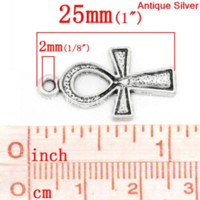 antique trucks - Charm Pendants Egypt Ankh Antique Silver Dot Carved mm x mm quot x quot K03436 silver truck silver plated lobster clasp