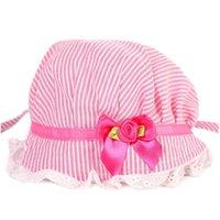 Wholesale fashion Cute Baby Girls Toddlers Lace Flower Sun Hat Cap Summer Cotton Hat Months L03086
