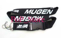 automobile chains - men s automobile car MUgen Black KEY Chain Lanyard neck lanyards Cell Phone Straps Charms ID Holder colors can choose car