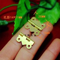 Wholesale 20 MM copper butterfly hinge lace wooden boxes connected Hinge degrees flat