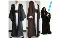 Wholesale STAR WARS JEDI Hooded Robe styles Costume unisex Cloak Cape Cosplay Halloween Christmas Dress clothes