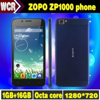Cheap Original ZOPO ZP1000 MTK6592 Octa Core Thin 7.2MM Mobile Phone Android 16GB ROM 14MP Camera OTG 3G WCDMA Smart Cell Phones