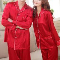 Wholesale Women Pajama Sets Spring Autumn Men Women Sleepwear Solid Ladies Homewear Sexy Pajamas Sets JB0104 Kevinstyle