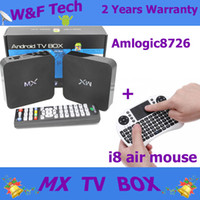 color tv - MX TV Box Android Media Player With i8 Air mouse Keyboard D Plastic Materials Black Color MX2 TV Box for Tv