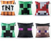 cheap sofa - Minecraft Creeper Monster Sofa Pillow New plush toys colors gifts Cheap Cartoon For Children Character Soft Warm Toy Stuffed Doll Green