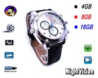 Wholesale 8GB GB IRW H1 High Definition P Watch Leather wristbands Digital Video Recorder High Camera supports IR camera