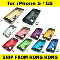 Wholesale Colorful Complete Full Set Back Housing Bezel Battery Door Cover Middle Frame Assembly Replacement for iPhone G S