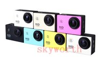Wholesale SJ4000 digital camcorder Waterproof gopro Sports DV HD Action Sport Camera Car DVR Gopro Style P MP H Inch LCD With wifi