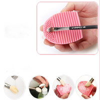best cosmetic brush cleaner - Best Deal New Professional Women pc Cleaning Glove MakeUp Washing Brush Scrubber Board Cosmetic Clean Brush egg Pink Colour