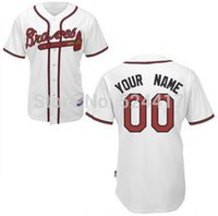 custom baseball jersey - 2015 New Colors Custom Atlanta Braves Jersey Authentic Baseball Jersey Personalized Letters Double Stitched Onfield Coolbase Jersey