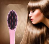 Wholesale Popular Brand Hair Straightening Iron Comb Electric Magic Straightener Brush Digital temperature control With LCD Display