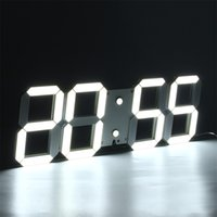 alarm clock modern design - DHL Large Modern D Design Digital Led Wall Clock Watches or Hour Display Alarm Clock With Remote Control D006