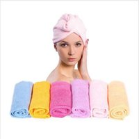 towel wrap - 2015 hot unisex Microfiber Magic Hair Dry Drying Turban soft Wrap Towel Hat Cap cotton Quick Dry Dryer Bath make up swim towel BBA3448