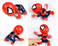 Wholesale 2015 New Fashion Car Inside Decoration Cartoon Spider Man Style Doll With Suction Cup Base Red Or Black Color Available