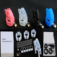 Wholesale 2015 NEW Male Chastity Device Bondage Gear Pure Silicone Men Cock Cage Bird Lock Silicon Silica Gel Adult sex toys four color optional