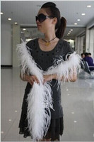 ostrich feather boas - 200CM long ostrich Feather Strips Wedding party Marabou Feather Boa DIY Stage Cosplay Props Fashion Scarf Color to choose