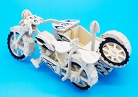 Wholesale boy wheeled motorcycle puzzle simulation model assembled wooden puzzle assembled combination d Yiwu China