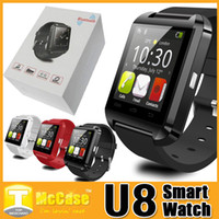 Wholesale HOT Bluetooth Sport Smartwatch U8 U Watch Smart Watch Wrist Watches for Android iPhone S S Samsung S4 S5 Note Note Phone Call SMS