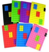 Wholesale 60pcs new candy colors notebook creative silicone laptop puzzle notebooks school supplies stationery kids gift HX