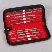 surgical instruments - 10pcs Set Dental Lab Stainless Steel Kit Wax Carving Tool Set Surgical Dental Instruments Wax Carving Tool Kit