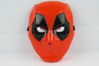 Wholesale 2016 Halloween cosplay Mask Full Face LED Deadpool mask Novelty For Adult and kids Cartoon light up Deadpool Masks C416