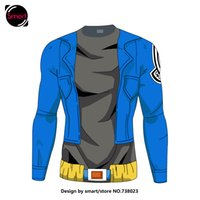 base ball tees - Newest Dragon Ball Z t Shirt Men Tights Long Sleeve Base Layer Sport Gym Fitness cosplay tees clothing
