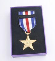 american gold medals - American metal badge American Silver Star Medal