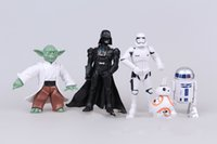 Wholesale 2016 cm Star Wars set Darth Maul Darth Vader Yoda Stormtrooper Chewbacca Action PVC Figures Toys