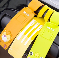 animal luggage tags - NEW fashion Cartoon Silicone plane LUGGAGE TAG lovely D animal Yellow duck frog panda lion Travel bag tag bag tag Toys best gifts cc108