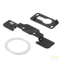 airs repair kit - in OEM Repair Part Kit for iPad Air Home Button Holder White Home Button Pad Ring Front Camera Holder parts