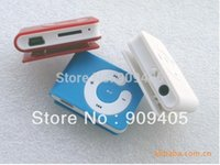 Wholesale DHL Free ship Factory direct sale card small clip MP3 gift MP3 with card slot Earphone usb cable vv
