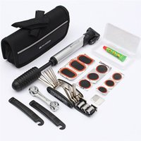 Wholesale Bike Bicycle Road Mountain MTB Cycling Tyre Tire Repair Multifunctional Tool Set Kit with mini portable Pump