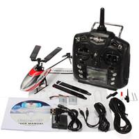 Livraison en gros-gratuit! <b>Walkera Super</b> Mini CP 6 canaux 3D 3-Axis RC Helicopter + Télécommande DEVO 7E
