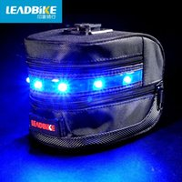 Wholesale Ride a bicycle taillight light impression explosion lamp tail bag bag trade one saddle cushion bag bag