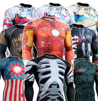 basic compression - Elephant Compression Skin Tight crossfit Shirts Weight Lifting Basic Layer Running Training gym Bodybuilding Fitness men shirts