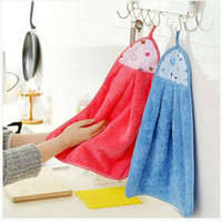 baby oil hand - Super soft coral velvet towel kitchen kitchen towel Hanging towel Super absorbent lint free non stick oil