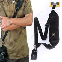 Wholesale New Convenient Quick Rapid Camera Single Shoulder Sling Belt Strap Black for SLR DSLR