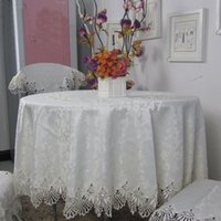 Wholesale Hot Sale Big Size Round Elegant Polyester Lace Tablecloth For Wedding Party Home Table Cloth Cover Overlays