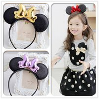 baby acessories - Children s Baby Korean Style Loveliness Solid Mickey Bow Blending Hair Sticks Hair Acessories W Manufacturers