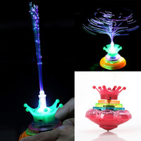 Wholesale 3 Classic Retro Music LED Gyro Kids Toy Gifts Flash Light Peg Top Spinner Laser