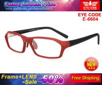 Cheap Eye code E6604 eyeglasses fashion square frame men women ultra myopia high index prescription lenses progressive optical lens