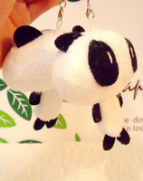 small stuffed animals - Hot sale Min order is mix order Lovely panda Dolls mobile phone pendant small stuffed animal toy dolls Wedding Gift