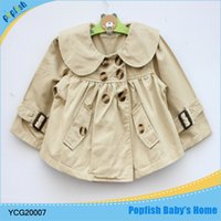 baby frock coat - Small new styles fashsion baby clothes cotton fabric children outerwear beautiful girls frock coat