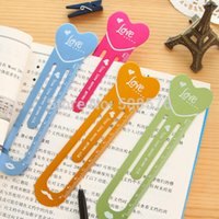 drawing ruler - Creative Multifunction Colour Heart drawing rulers Lovely bookmark stationery Kid toy