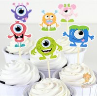Wholesale Monsters University Cupcake Toppers Picks birthday wedding party decorations party favors